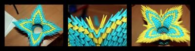 Красивая Корзинка Оригами схема складывания 11-12