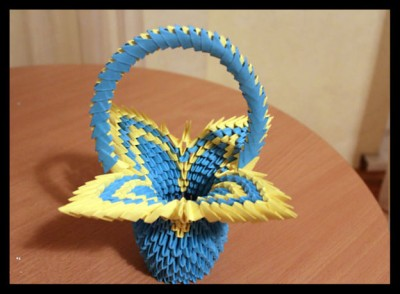 Красивая корзина оригами мастер-класс