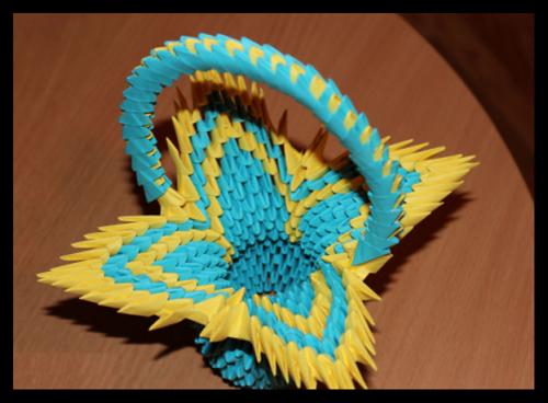 Красивая корзинка оригами мастер-класс