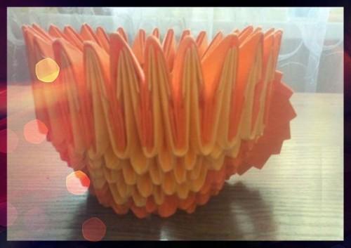 Кружка оригами из модулей мастер-класс