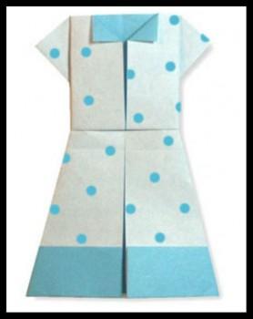 Летнее платье оригами мастер-класс