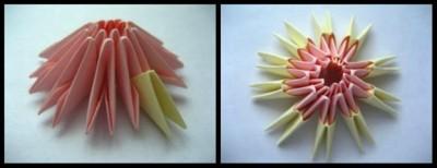 Мастер класс модульное оригами ромашка 2