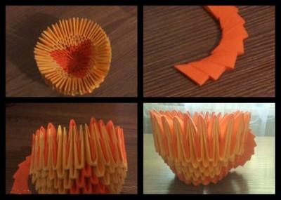Модульная кружка оригами схема 9-11
