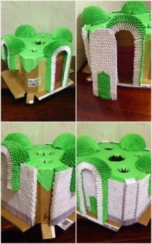 Модульное оригами храм схема сборки 10