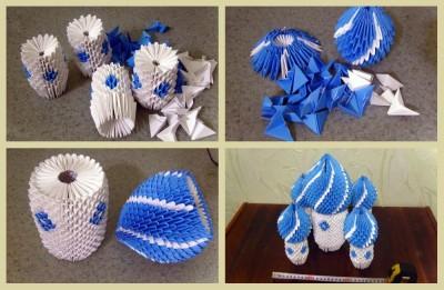 Модульный храм оригами схема 1-4