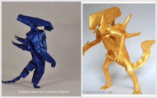 Оригами Чужой два варианта сборки