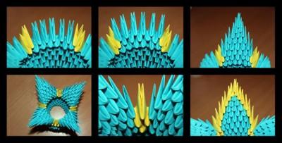 Оригами Корзинка модульная схема 7-10