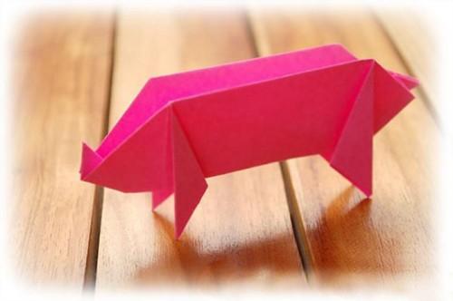 Оригами Поросенок мастер-класс