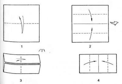 Оригами гриб схема сборки шаг 1-4