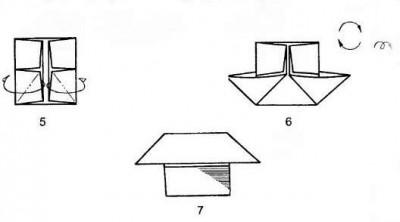 Оригами гриб схема складывания 5-7