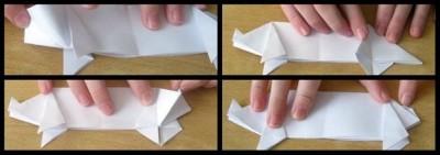 Оригами поросенок для детей схема 17-20
