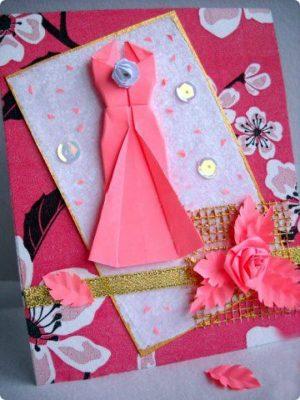 Платье оригами мастер-класс