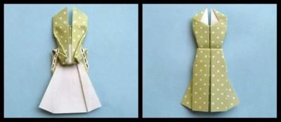 Платье оригами схема сборки мастер-класс 12-13