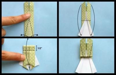 Плятье схема складывания оригами 8-11