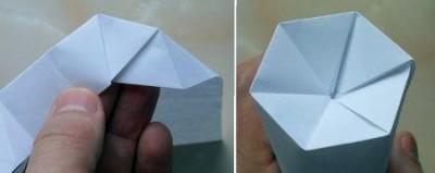 Сборка бутылки оригами шаг 5