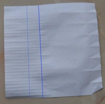 Схема сборки бутылки оригами шаг 6