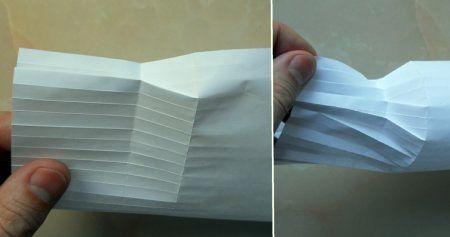 Схема сборки оригами бутылка 7