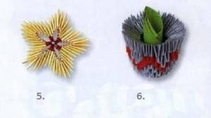 Цветущий кактус схема складывания 5-6