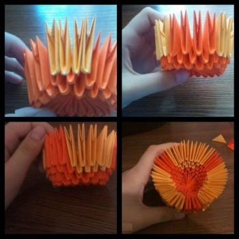 Модульная кружка оригами схема складывания 5-8