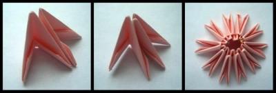 Модульное оригами для начинающих ромашка шаг 1