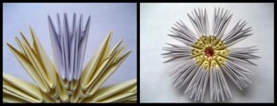 Модульное оригами схемы сборки ромашки 4-5