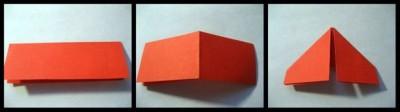 Оригами ромашка модульная схема 1-4