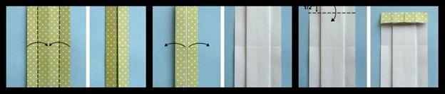 платье оригами схема сборки 4-6