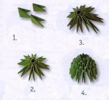 Схема сборки кактуса 1-4