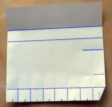 Схема бутылка оригами шаг 3