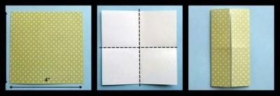 схема сборки платье оригами 1-3