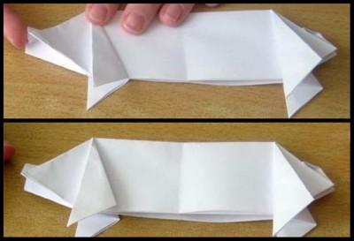 схема сборки поросенок оригами 21