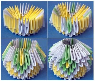 Ваза избумаги оригами схема складывания 5-8