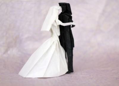 Оригами Жених и Невеста мастер-класс сборка