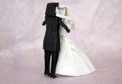 Оригами молодожены схема сборки видео