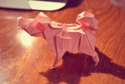 Оригами собака схема сборки видео