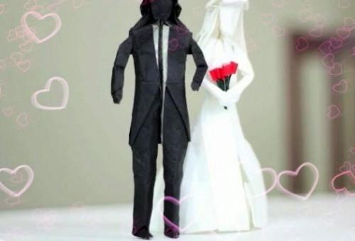 Оригинальное оригами Жених и Невеста от Tadashi Mori