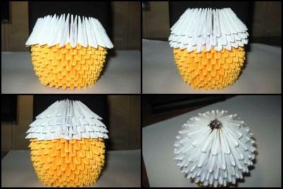 модульное оригами пасхальный кулич схема складывания 6-7