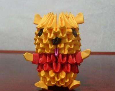 Модульное оригами Винни-пух схема сборки