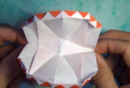 Бумажная челюсть оригами схема сборки видео