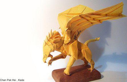 Грифон оригами за схемой Kade Chan