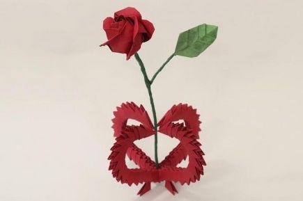 Хрупкая 3D ваза оригами
