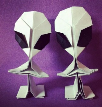Инопланетянин оригами мастер-клас