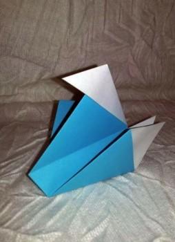 Легкая утка оригами за схемой