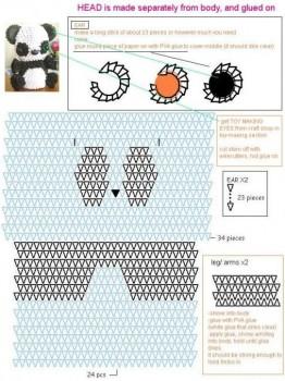 Модульное оригами Панда схема