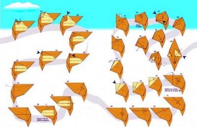 Оригами Белка Схема сборки