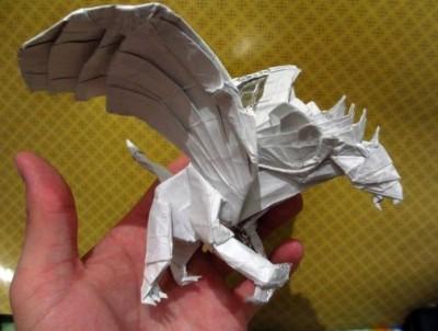 Оригами Грифон мастер класс по сборке