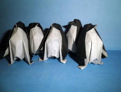 Оригами пингвин схема