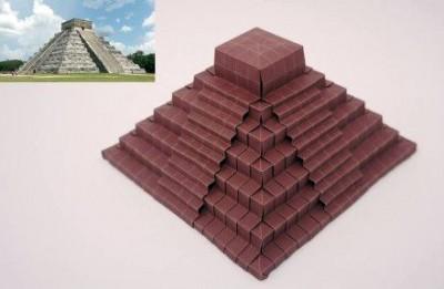 Оригами пирамида видео урок схема