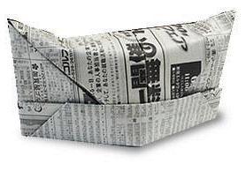 Оригами шляпа из газеты