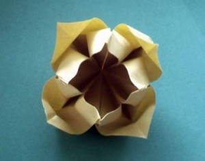 Оригами цветок схема складывания видео урок